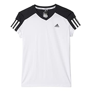 Adidas G Club tee - Camiseta para niña, Talla 164, Color Blanco/Negro: Amazon.es: Deportes y aire libre
