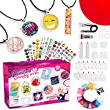 GoodyKing Jewelry Making Art Supplies for Girls - Arts and Crafts DIY Kit Assorted Cabochon Necklace Pendants Bracelet…