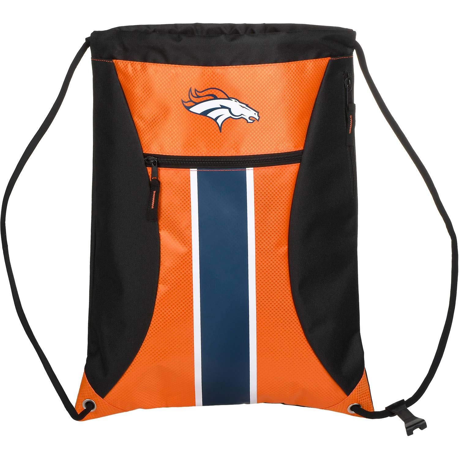 Denver Broncos Big Stripe Zipper Drawstring Backpack