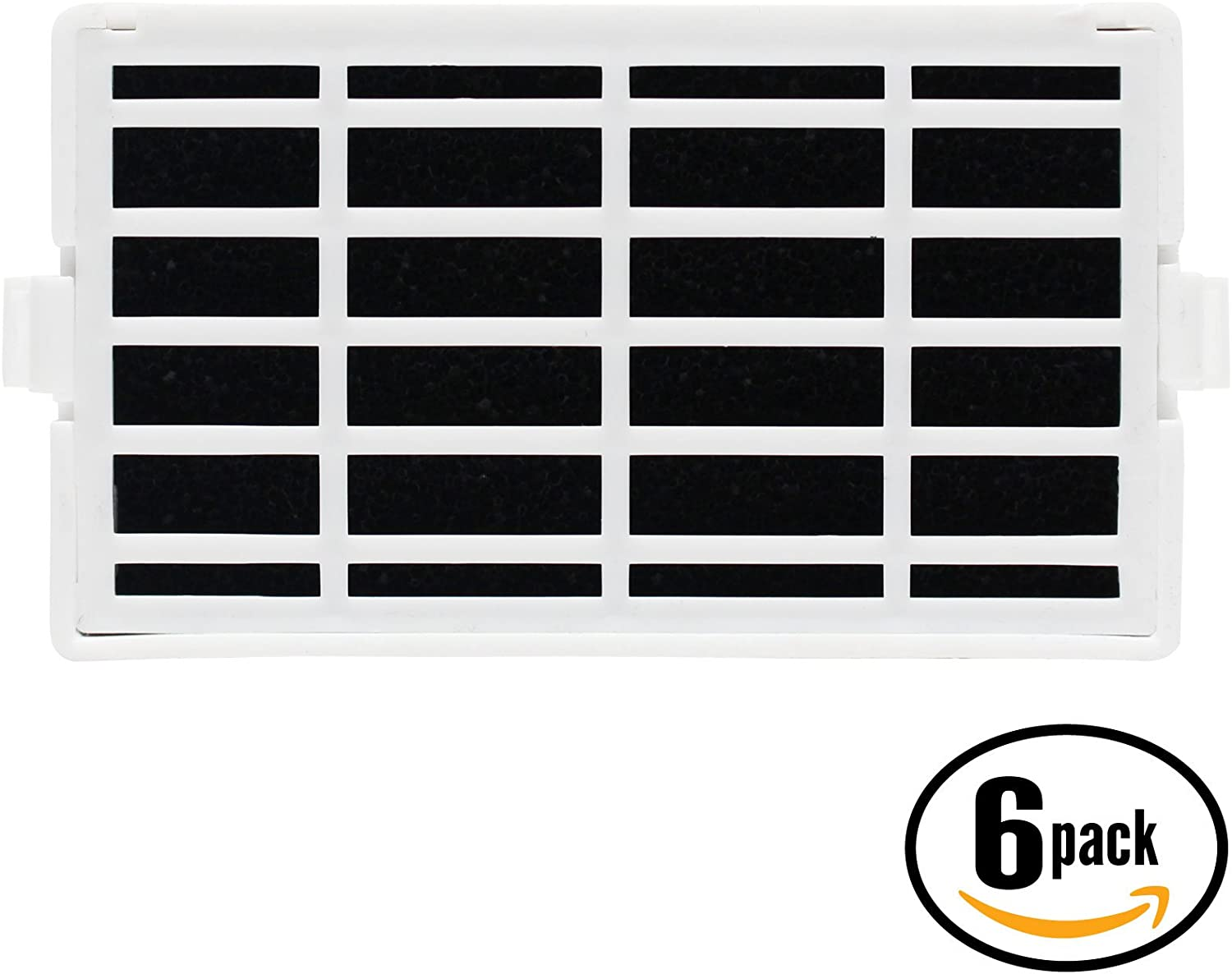 6-Pack Replacement for Whirlpool GSF26C4EXB00 Refrigerator Air Filter - Compatible with Whirlpool W10311524 AIR1 Fridge Air Filter