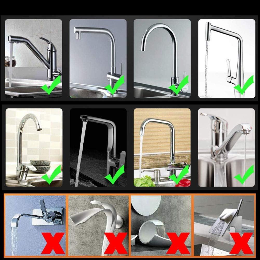A/érateur de robinet robinet de lavabo de salle de bain anti-/éclaboussures a/érateur de tuyau diffuseur de buse adaptant au robinet de cuisine pivotant /à 360 /° 3 modes de r/églage