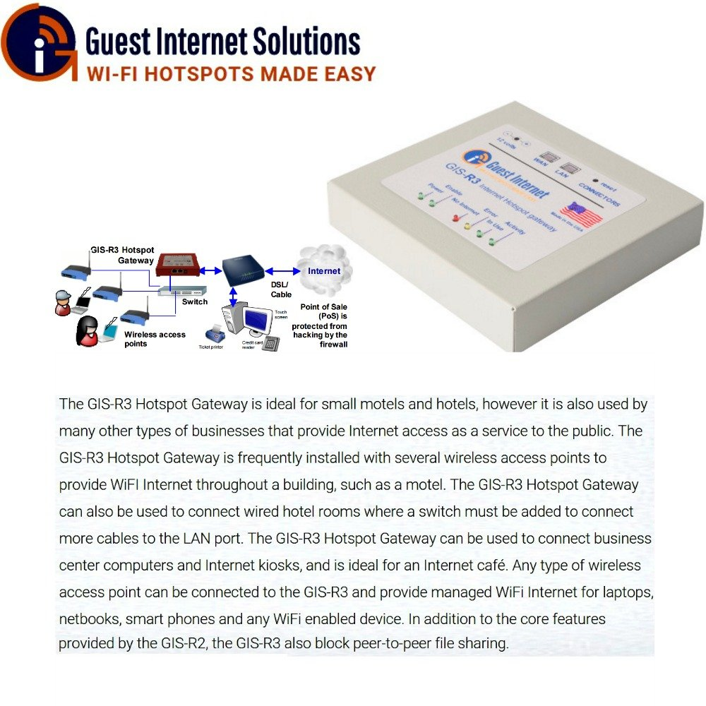 GIS-R3 Internet Hotspot Gateway for 100 users by Guest Internet (Image #1)