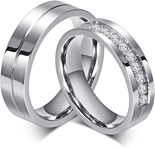 Stainless Steel Plain Band Ring for Women Wedding Engagement Promise,3mm Width,Silver