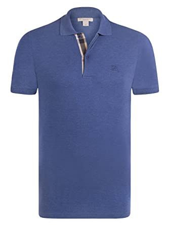 Burberry - Polo - Homme bleu Bright Steel Blue M  Amazon.fr ... 949c6832ed3