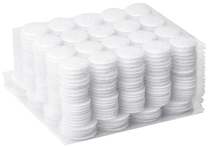 500 Paar Klettpunkte Farbwahl 20mm selbstklebend Klettband-Punkte Klebepunkte
