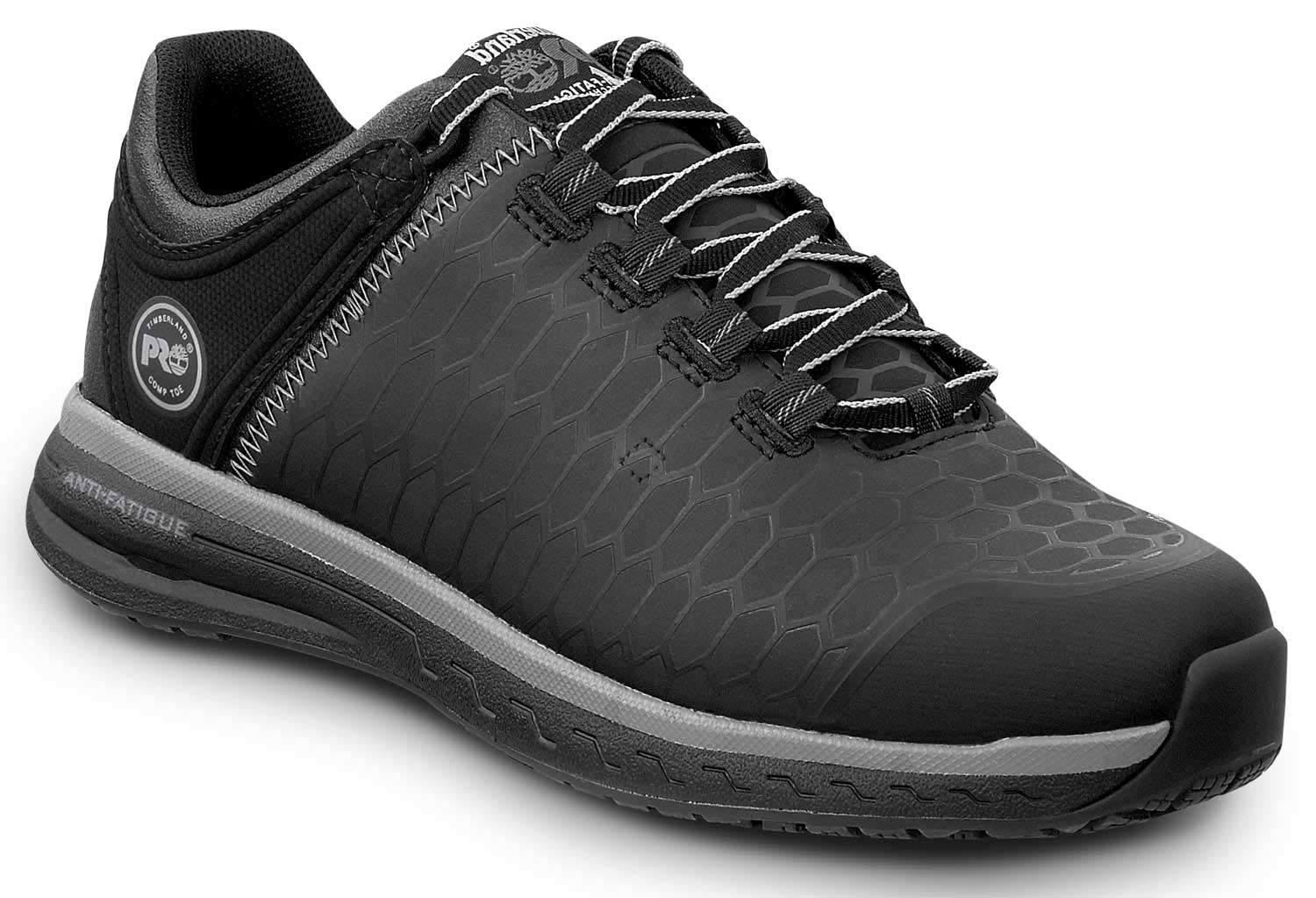 Timberland PRO Women's Powerdrive Soft Toe EH Low Athletic (7.5 M, Black/Grey) by Timberland PRO