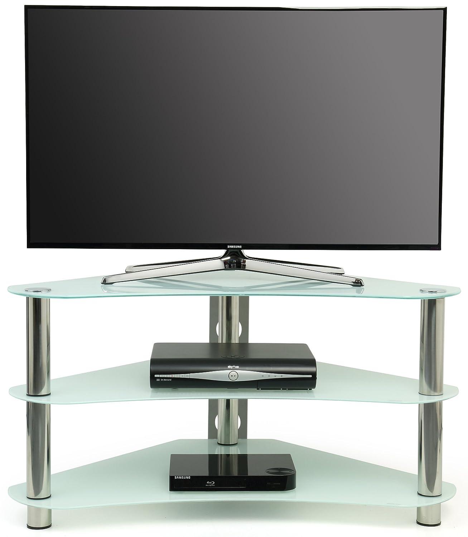 Centurion Gt7 Meuble Tv D Angle Contemporain En Verre Pour Crans  # Meuble Tv D Angle En Verre