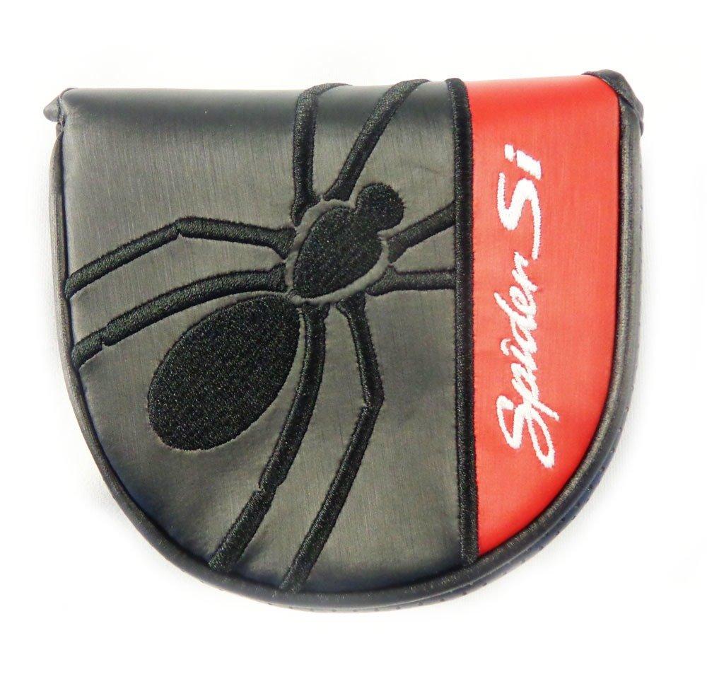 新しいTaylorMade Spider Siブラック/レッドヒールShafted Mallet Velcroパター用ヘッドカバー B011EXTNP4
