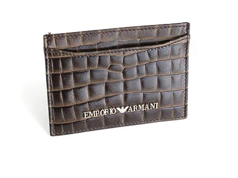 Emporio Armani - Tarjetero Marrón marrón  Amazon.es  Equipaje ec2a3d29de80