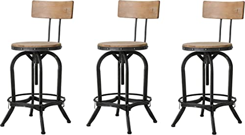 Christopher Knight Home CK Home Indoor Barstools, Brown Pack of 3