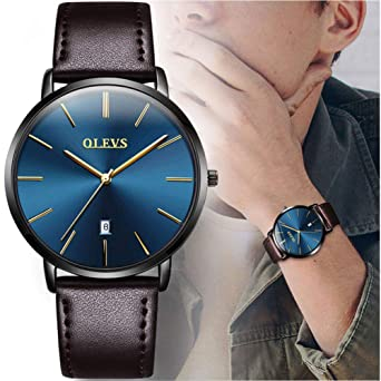 Men's Watches Fashion Black Hole Star Men Led Watch Couple Fashion Leather Band Analog Quartz Round Wrist Business Mens Electronic Watch Elegant In Style