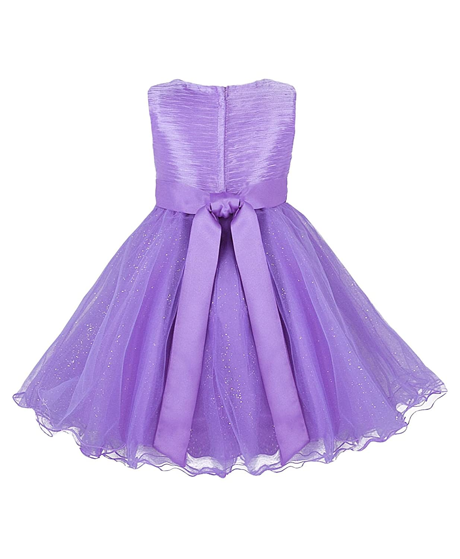 RageIT - Vestido de tul para niña, con lazo, para damas de honor en ...