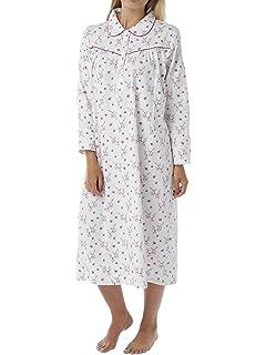 Ladies Womens Nightie Wincey Nightdress Nightwear Pattern Long Sleeve  Sleepwear abca9930a