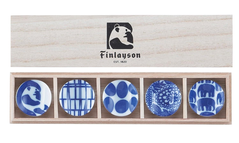 フィンレイソン「染付箸置揃・5個セット(木箱入り)」
