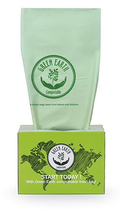 Amazon.com: Green Earth - Bolsas compostables (13 galones ...