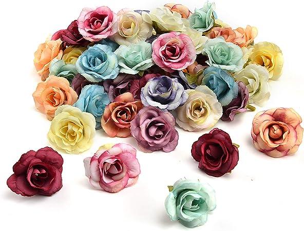72 Teal 34 Ribbon Flowers Roses Craft Supply Wedding