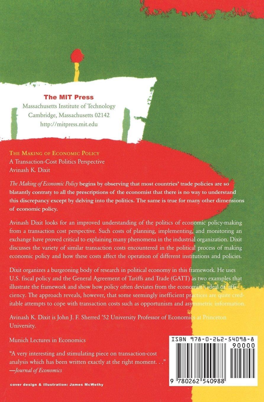 Dixit, A: Making of Economic Policy: A Transaction Cost Politics Perspective Munich Lectures in Economics: Amazon.es: Dixit, Avinash K.: Libros en idiomas extranjeros