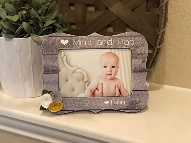 Amazoncom Gift For Mimi Papa Personalized Picture Frame For Nana