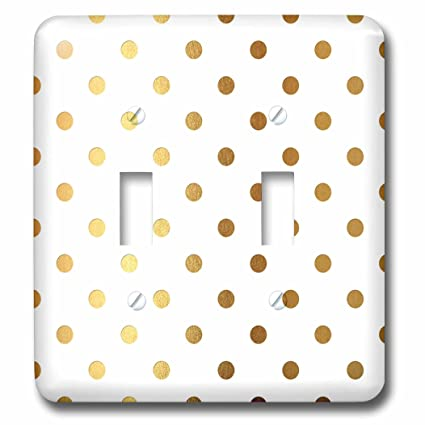 136b6b5448600 3dRose Anne Marie Baugh - Patterns - Glam Faux Gold Dots On A White ...