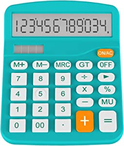 Helect H1001B-Calculator-BL Standard Function Desktop Calculator, Blue
