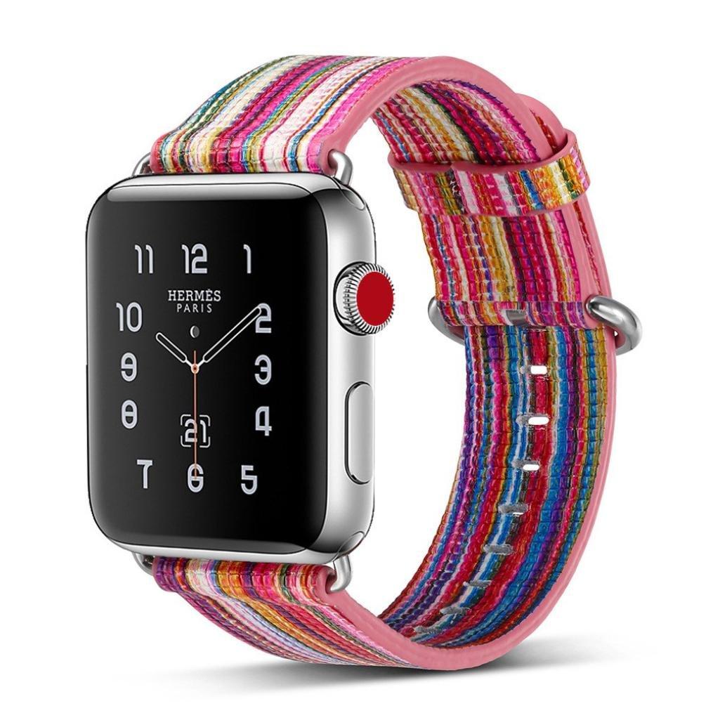 新しいF / W Memela ( TM ) 42 / 38 mm Apple Watchバンド、High Streetレザーストラップ時計バンドの交換用ブレスレットApple Watchシリーズ3 & 2 & 1 38MM|D D 38MM B076QCPLPJ