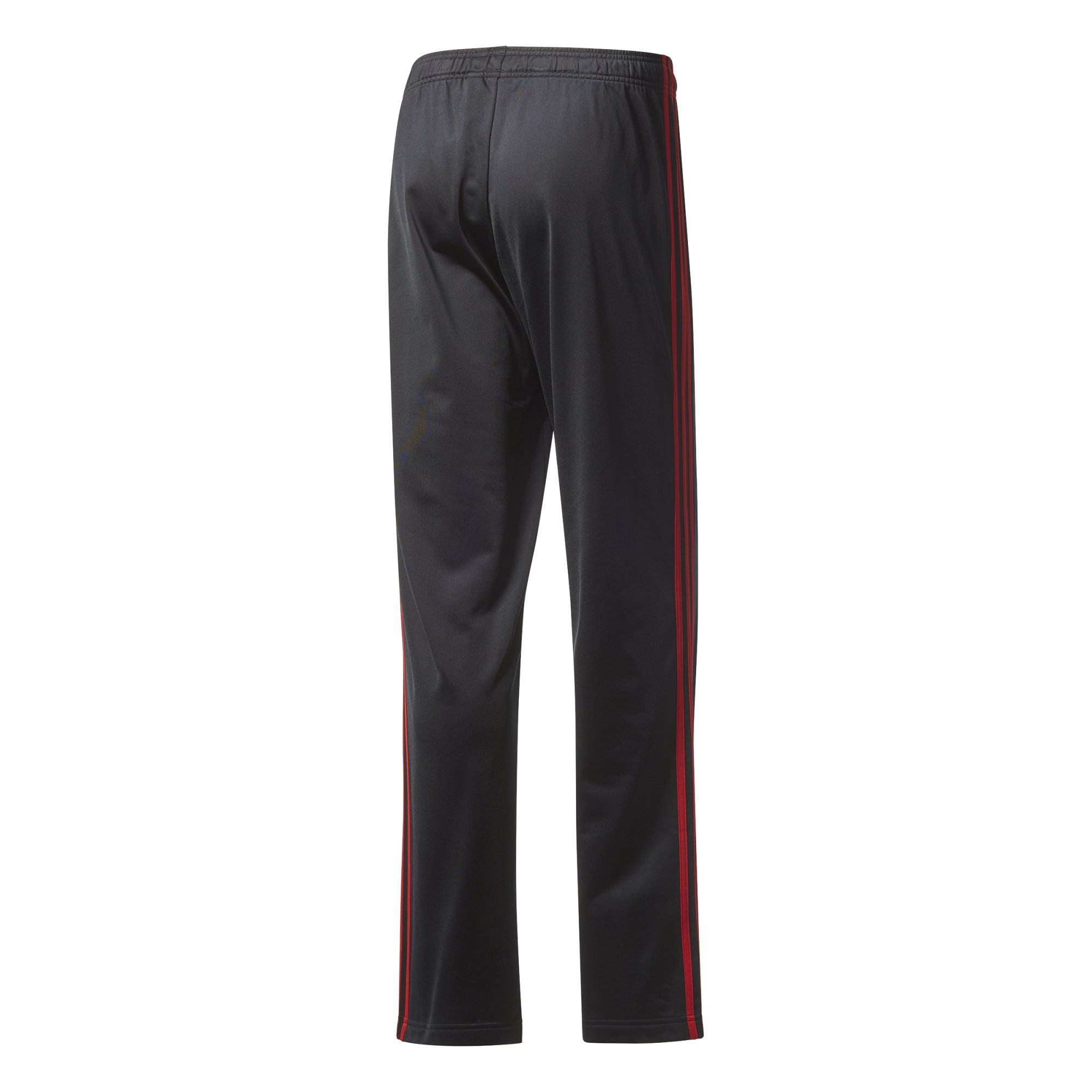 adidas Men's Athletics Essential Tricot 3-Stripe Pants, Black/Scarlet, Small by adidas (Image #4)