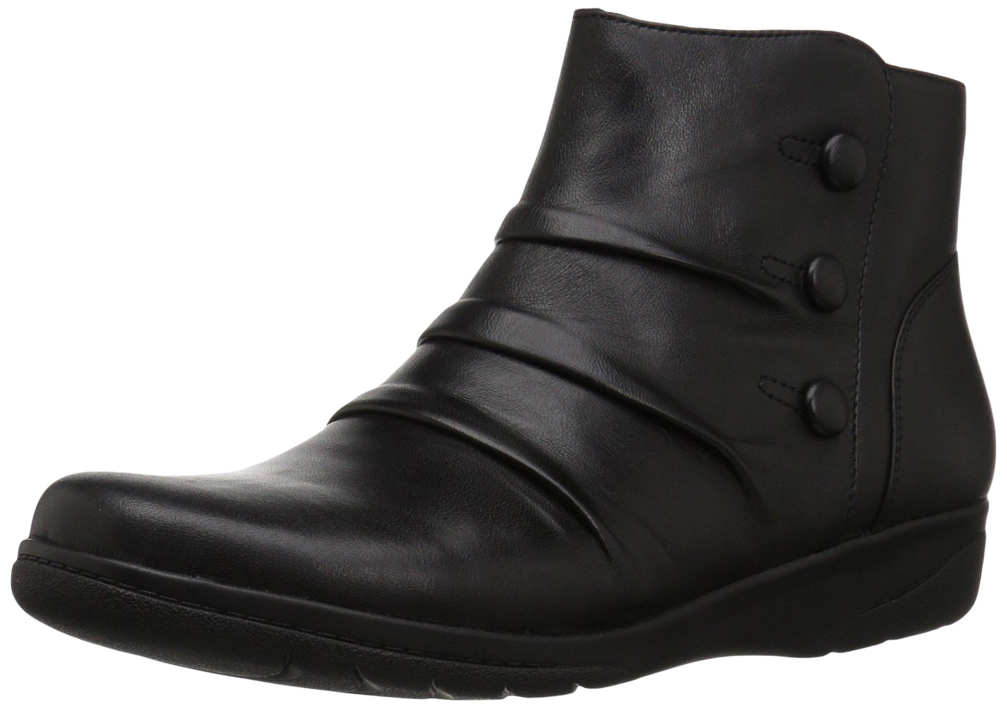 CLARKS Women's Cheyn Anne Boot, Black, 9.5 M US