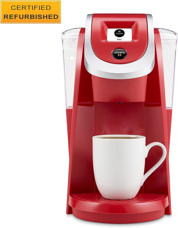 Keurig K200 Coffee Maker, Single Serve K-Cup Pod Coffee Brewer, With Strength Control, Strawberry Renewed
