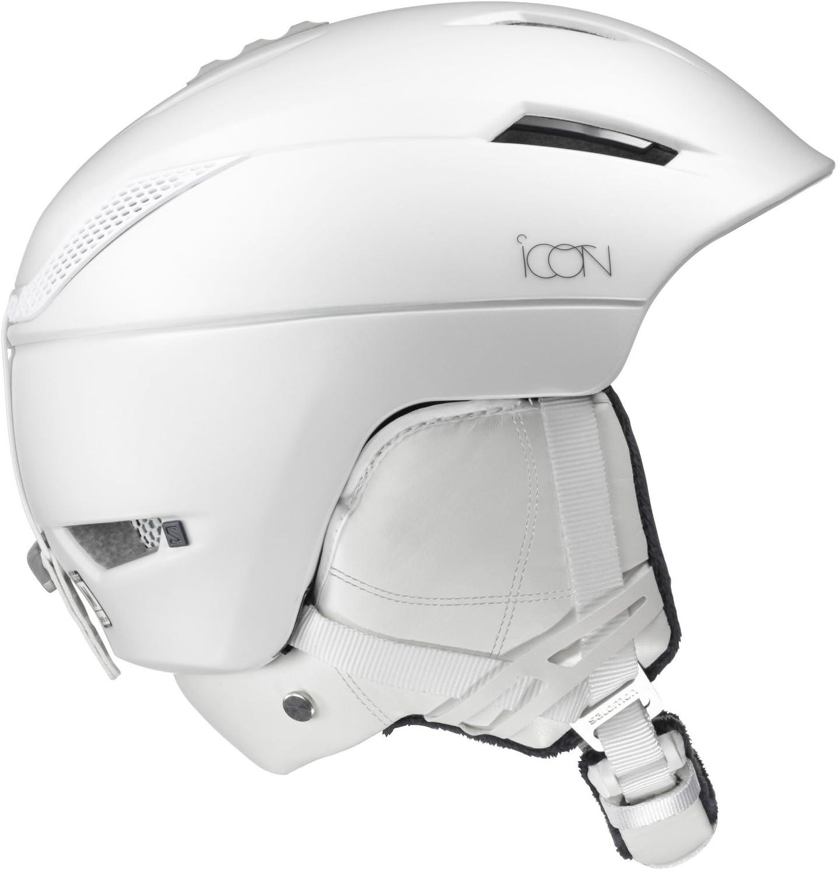 SALOMON(サロモン) スキーヘルメット スノーボードヘルメット レディース ICON² C.AIR (アイコン C エアー) サイズS~M 白い Medium