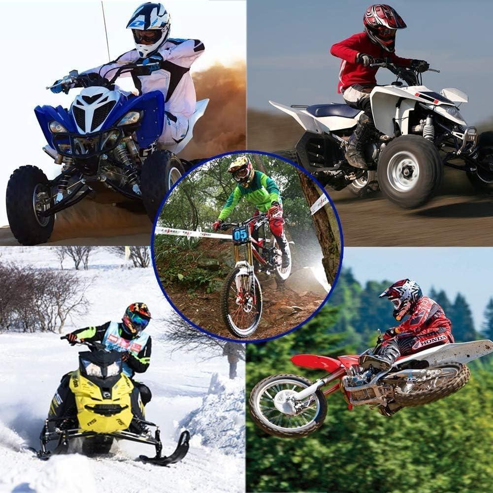 Casque de Motocross Moto Cross DH VTT Tout-Terrain VTT BMX Downhill Motocross Hommes Masque avec Gants MIBDF Casque Adulte de Motocross de Vitesse Negro y Amarillo, M