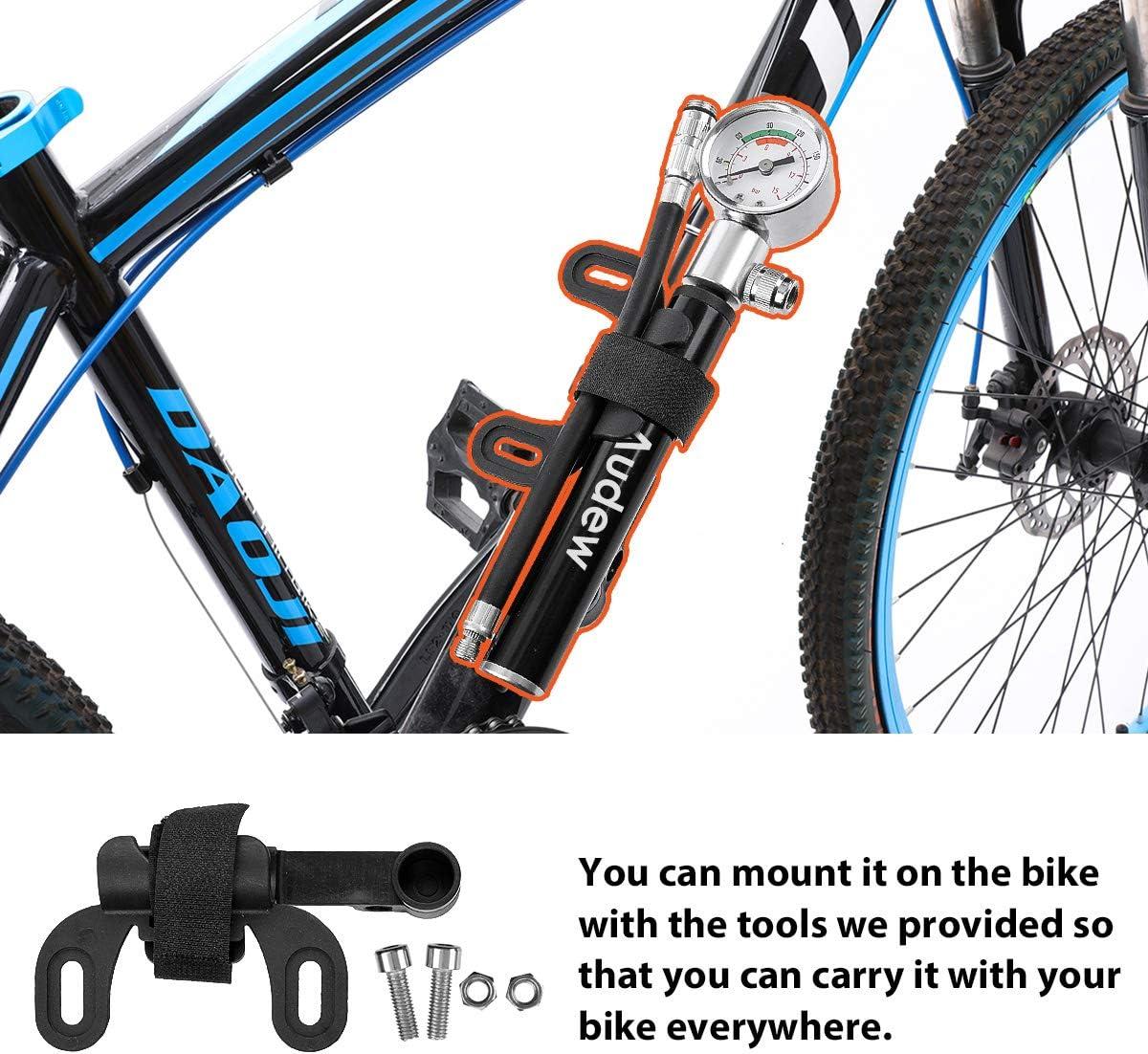 Delleu Bomba de Bicicleta Mini Bomba de Mano Bicicleta port/átil Bomba de Aire port/átil para Bicicleta de Carretera