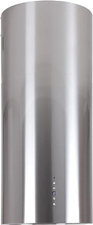 Campana isla Acero Inoxidable 40 cm 2 capas filtro de carbón activo recirculación o Canalizado Altura Regulable Hasta 1,5 m Campana extractora con temporizador 2 x Iluminación LED cocina campana Baltic Island: