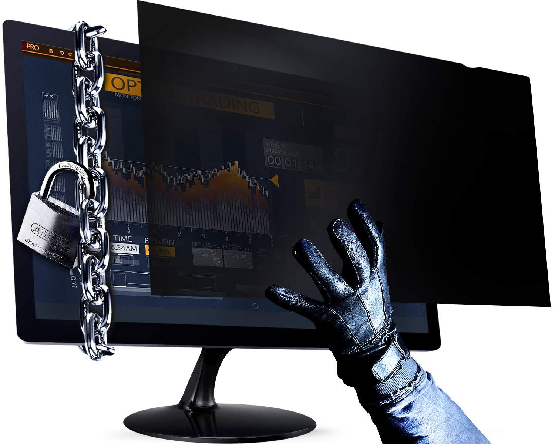 24 Inch Computer Privacy Screen Filter - 16:9 Aspect Ratio - for Widescreen Computer Monitor - Anti-Glare - Anti-Scratch Protector Film for Data confidentiality - Please Measure Carefully!