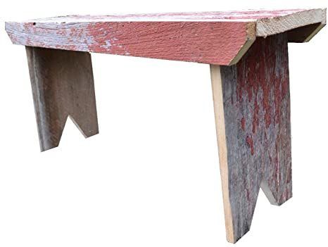 Enjoyable Amishwares Barnwood Bench 3 Foot Reclaimed Decorative Barn Wood Bench Color Will Vary Usually Red White Brown Gray Or Natural Nice Added Touch Ibusinesslaw Wood Chair Design Ideas Ibusinesslaworg
