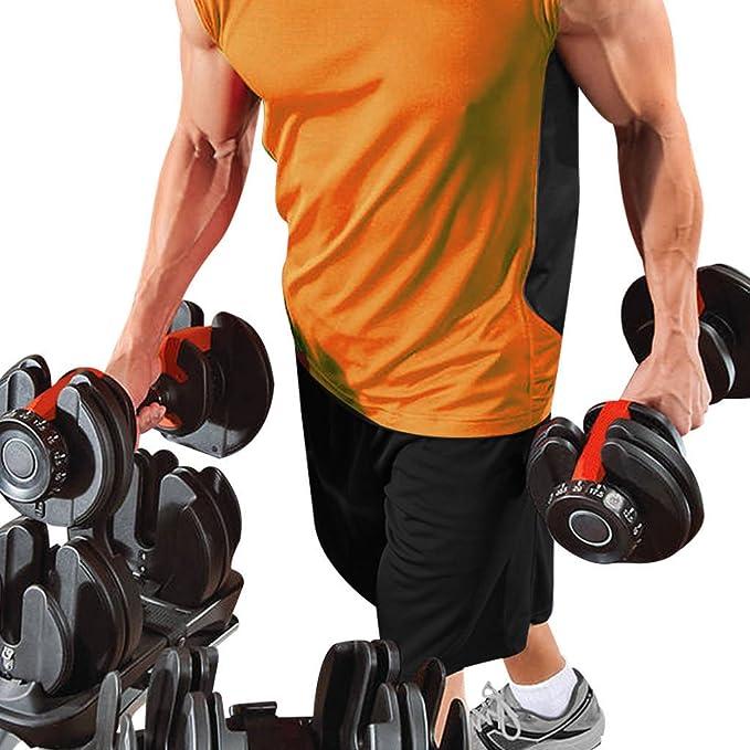 Sporteq - Mancuernas ajustables (24 kg, 40 kg de peso, para gimnasio, fitness), color negro, tamaño 1 x Dumbbells (single): Amazon.es: Deportes y aire libre