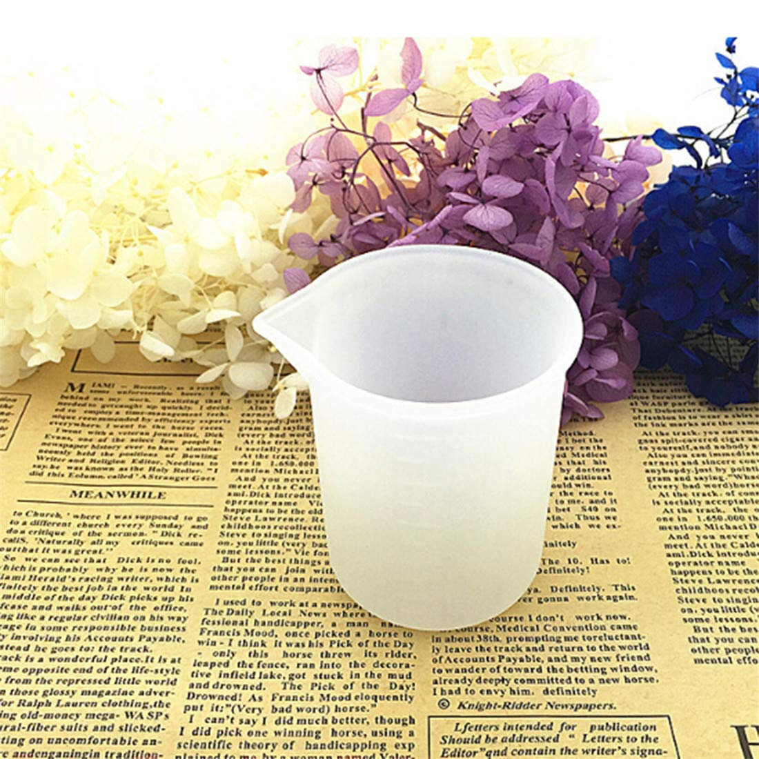 VWH Silicone Measuring Cups Liquid Measure Cup for Resin Glue Tool Jewelry Handmade Craft DIY
