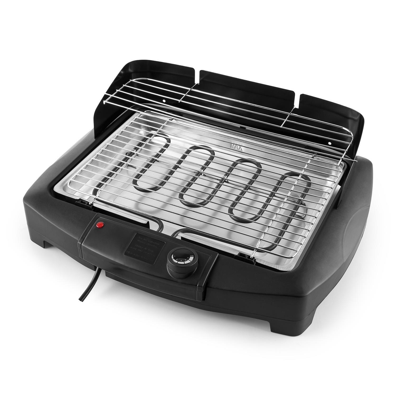 Beef II Summer Edition Ext/érieur//Int/érieur Noir 2000W Grill /électrique R/églage progressif Via Thermostat Surface de Grill de 900cm/² El/ément Chauffant//Pied Amovible OneConcept Dr