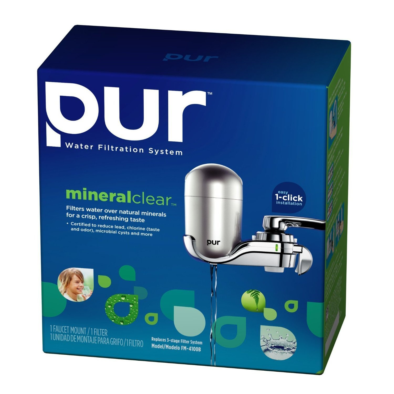 PUR FM-3800B Vertical Faucet Mount Water Filtration System - Faucet ...