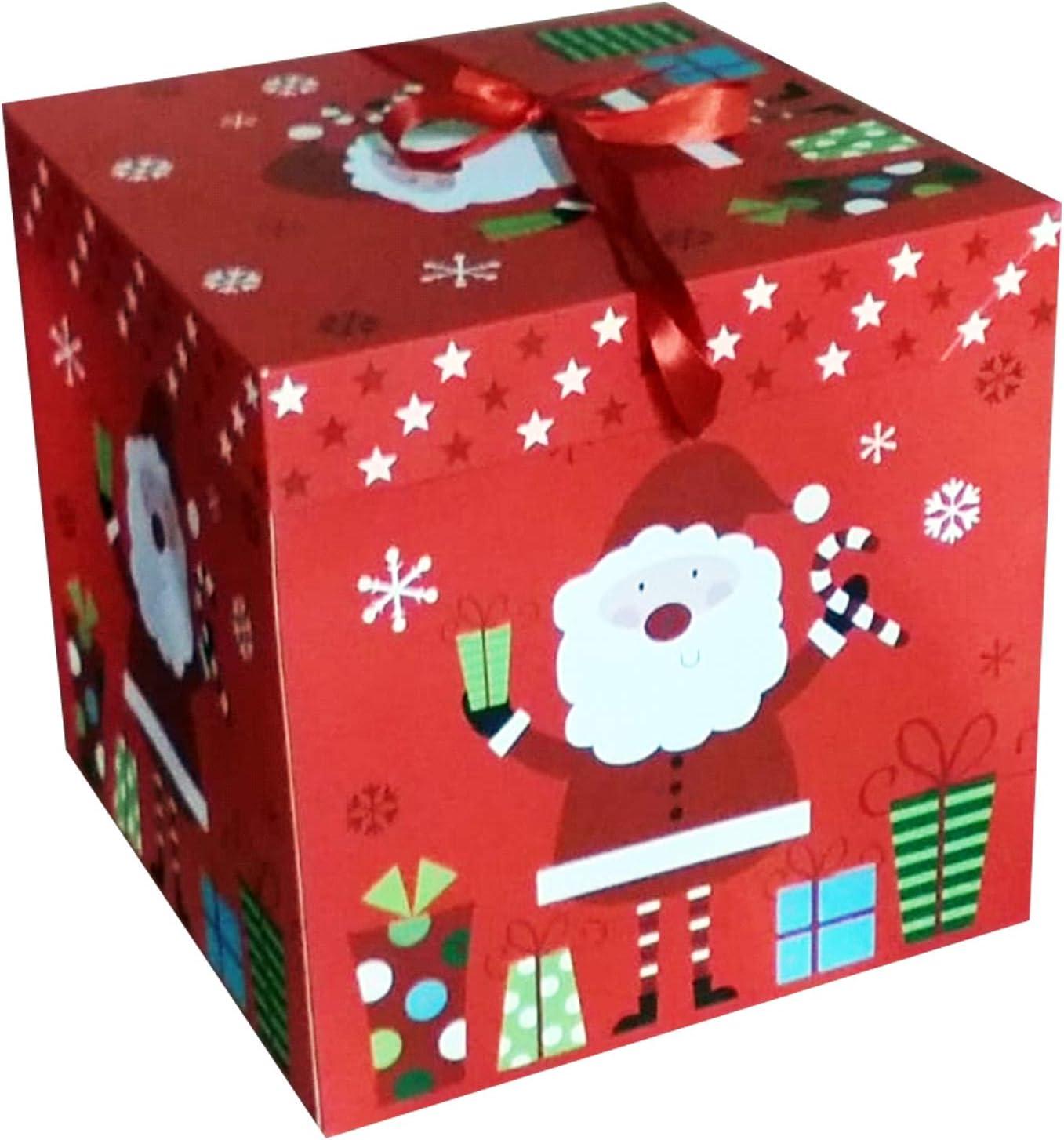 Red Ribbon Caja Cinta roja, Caja Grande, Tapas de Cajas de Regalo: Amazon.es: Hogar