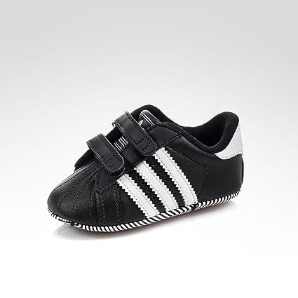 adidas Babyschuhe SUPERSTAR 2 CMF CRIB schwarz weiß