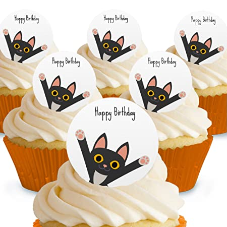 Cakeshop Decoración comestible para tarta con diseño de gato ...