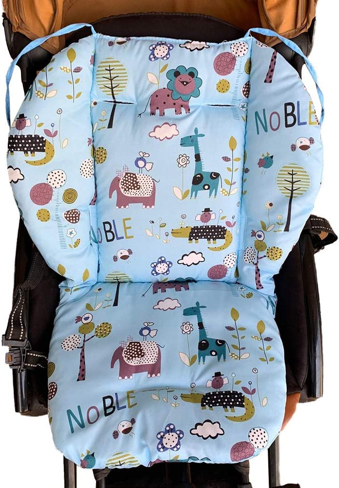 Baby Stroller Cushion Pad Infant Non-Slip Cotton Seat Liner Mat for Kids Chair Car Stroller Seat