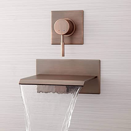 Signature Hardware 378995 Lavelle 6 1 2 Waterfall Wall Mounted Tub