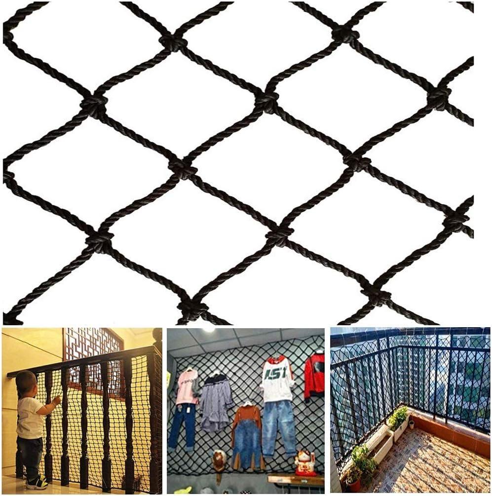 Balcón Escaleras Valla Red De Protección Infantil Red De Decoración Interior Y Exterior Red De Nylon Negro Red De Seguridad De Construcción del Sitio Fútbol, Escuela, La Cerca del Campo Golf: Amazon.es: