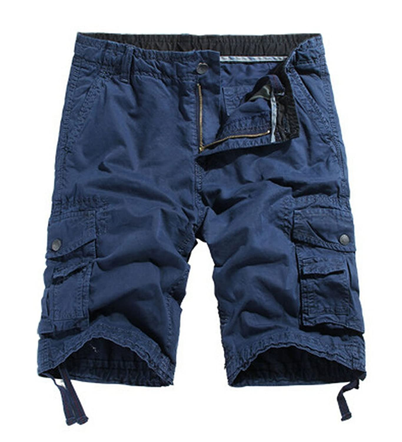 MR. R Men's Durable Relaxed Fit Multi Pockets Cargo Shorts
