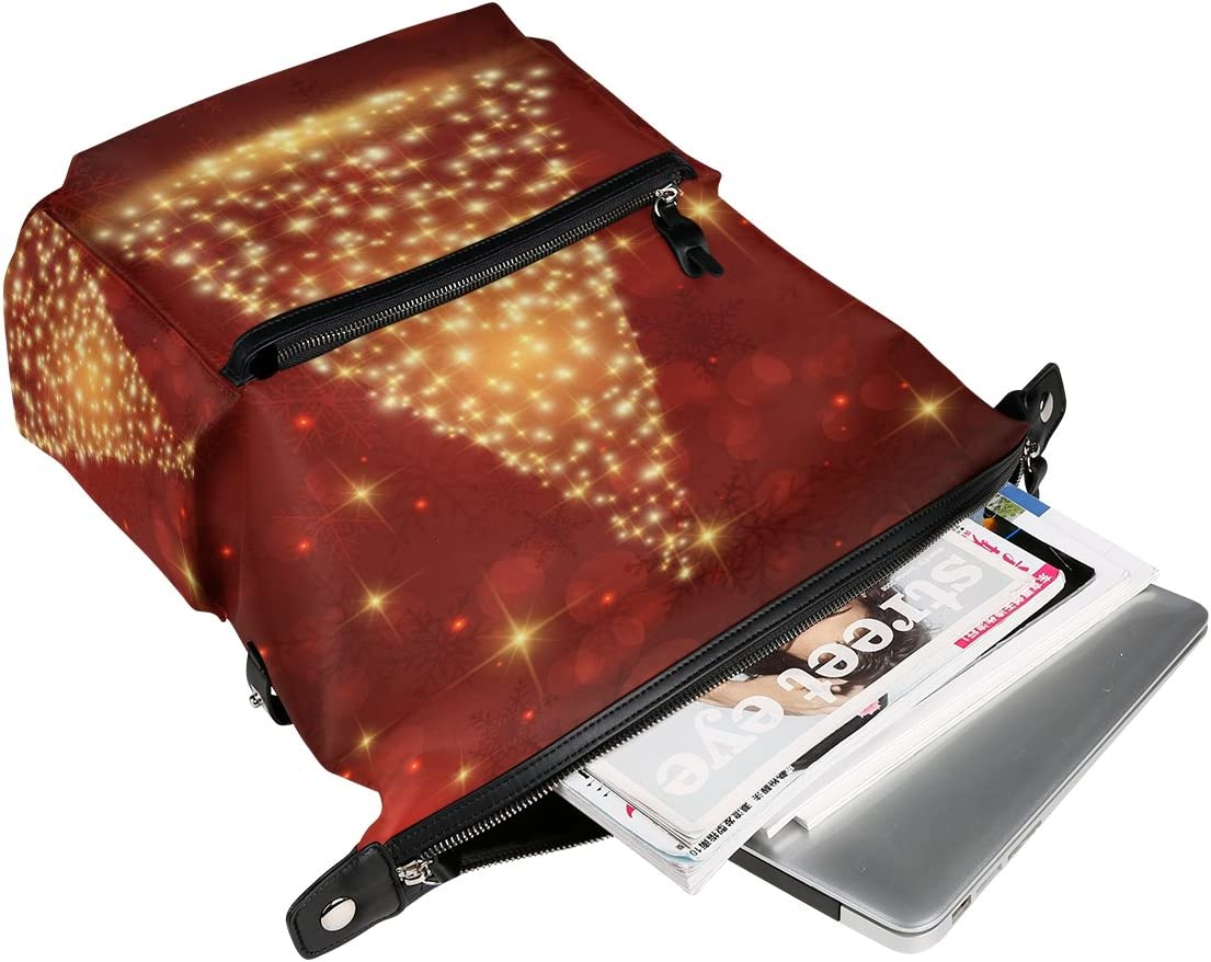 Laptop Backpack Lightweight Waterproof Travel Backpack Double Zipper Design with Euporean Christmas Day School Bag Laptop Bookbag Daypack for Women Kids