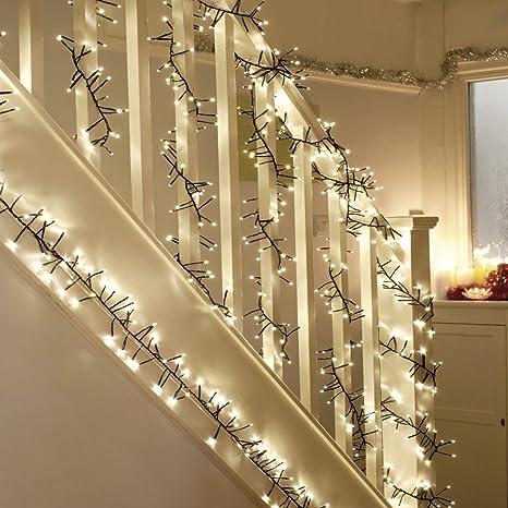 Amazon.com : WED 400 LED Twinkle Lights, Christmas Cluster Lights 23 ...