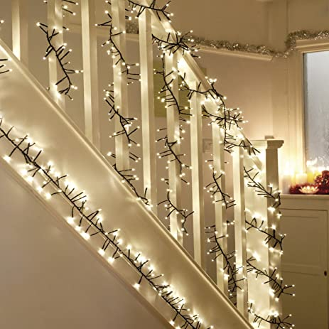 Amazon wed 200 led twinkle lightschristmas cluster lights 115 wed 200 led twinkle lightschristmas cluster lights 115 foot with warm white lights with aloadofball Images