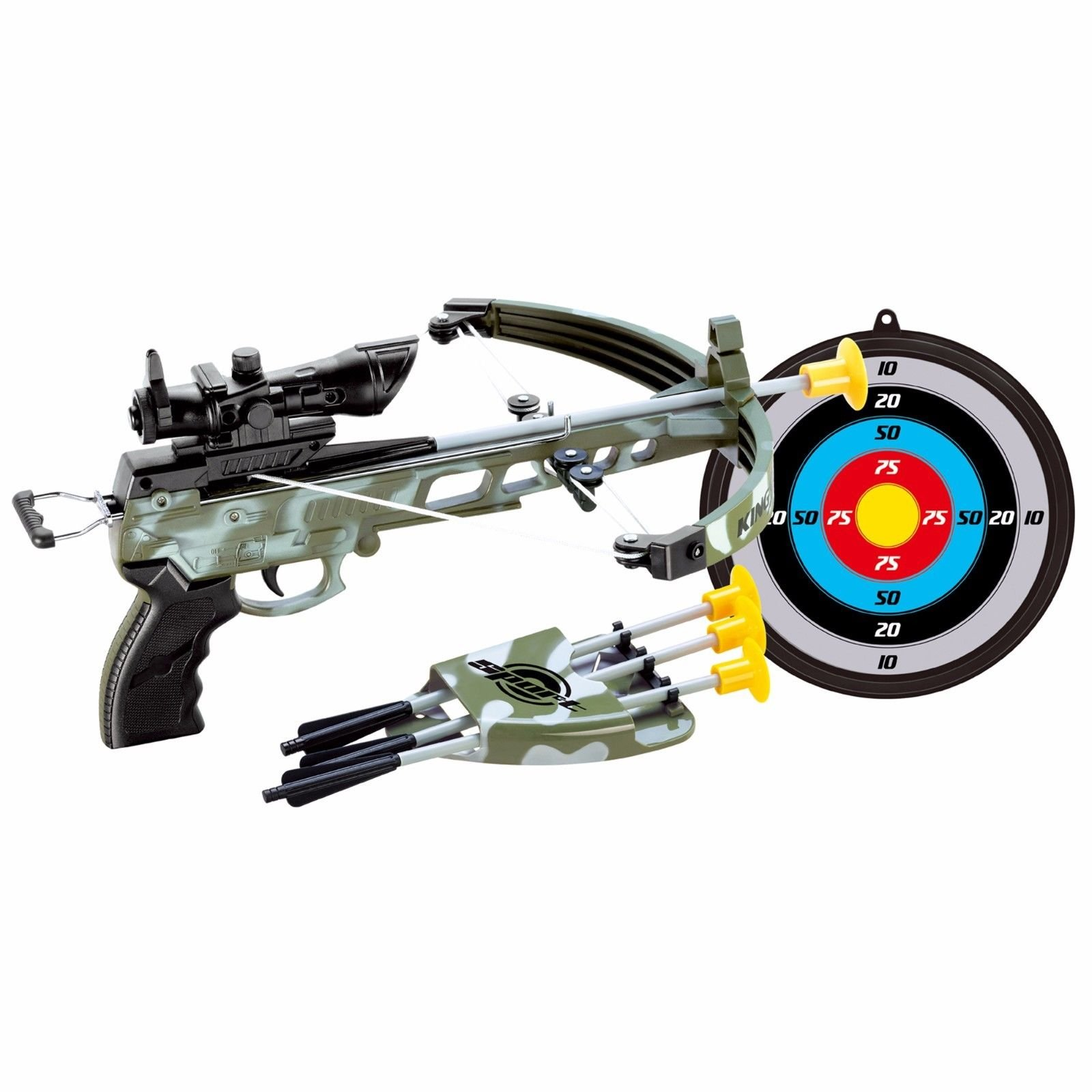 Military Toy Crossbow Set w/Target
