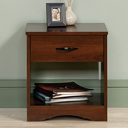 Sauder Beginnings Night Stand, Brook Cherry